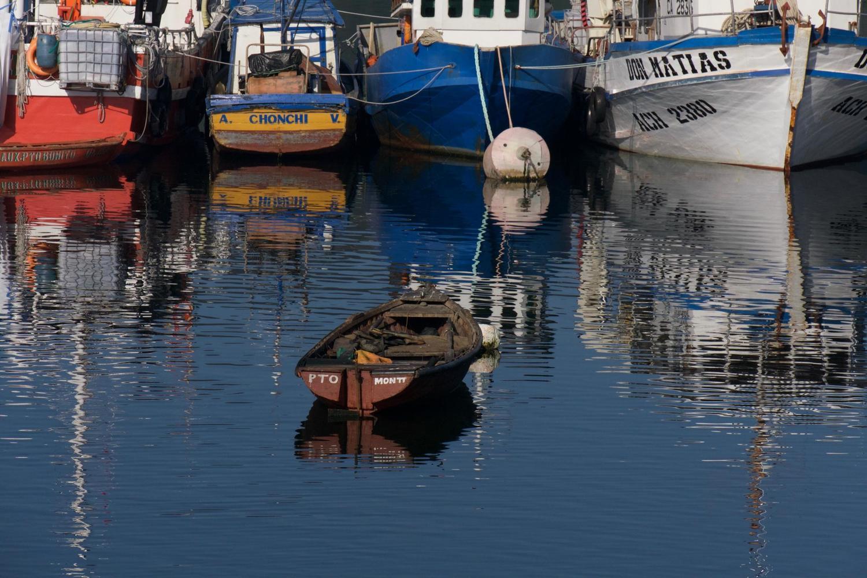 Peaceful waters in Puerto Montt harbour