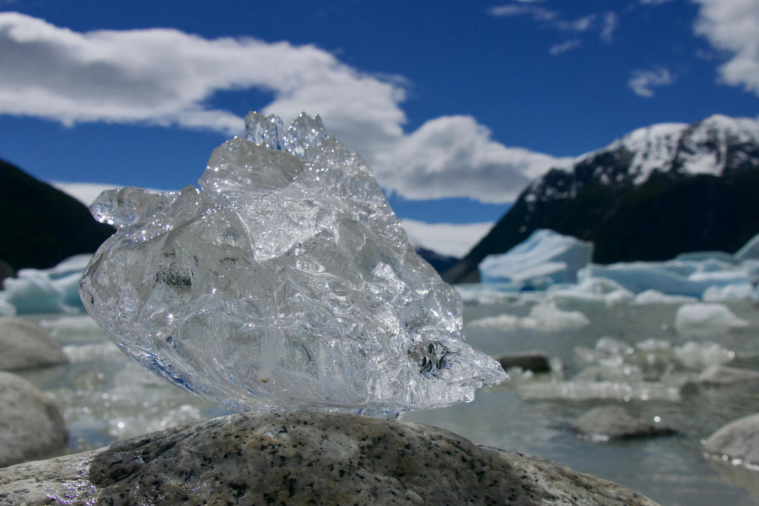 Clear ice by the Neff Glacier