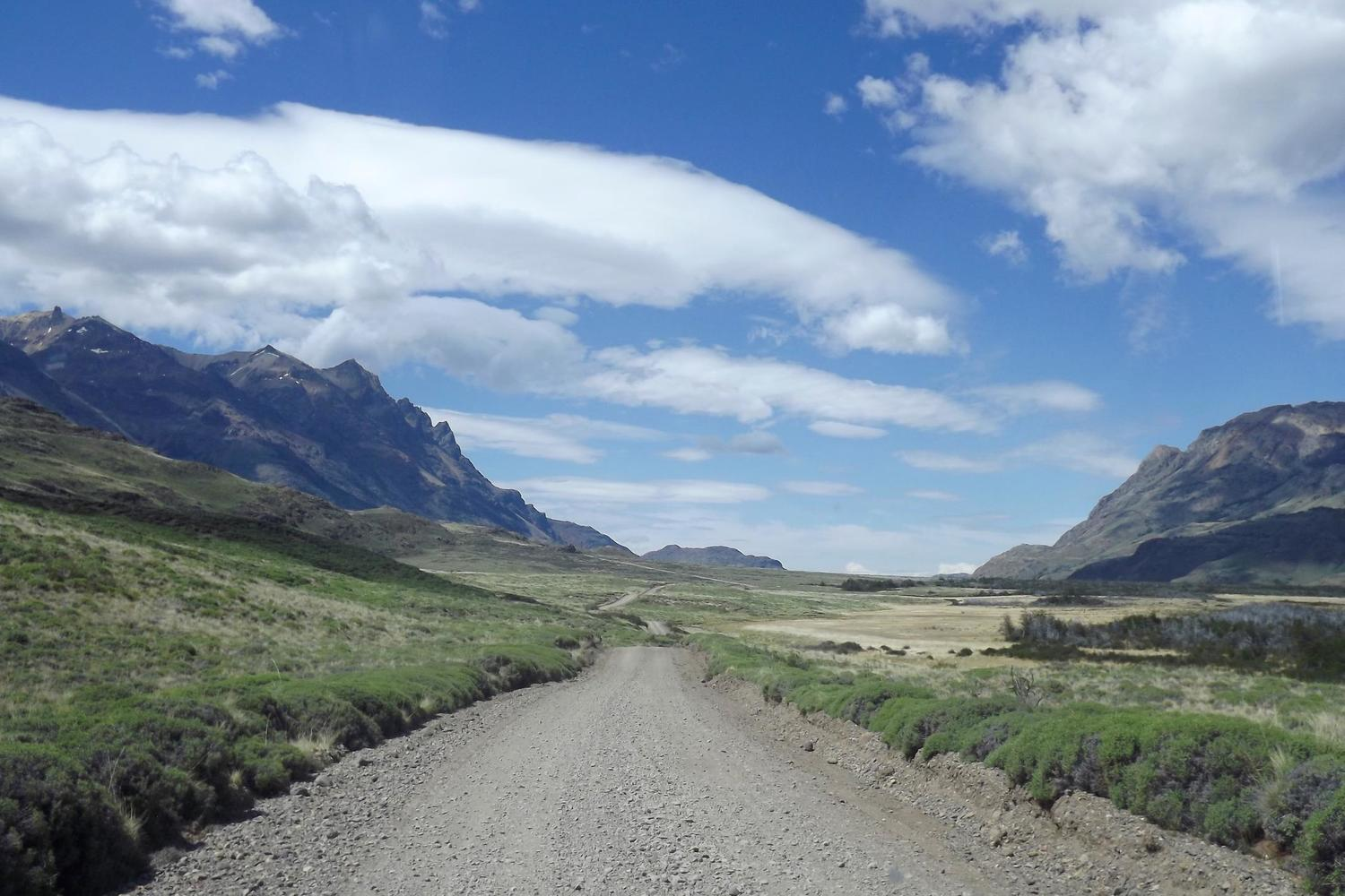 The road which runs through the heart of the future Parque Patagonia