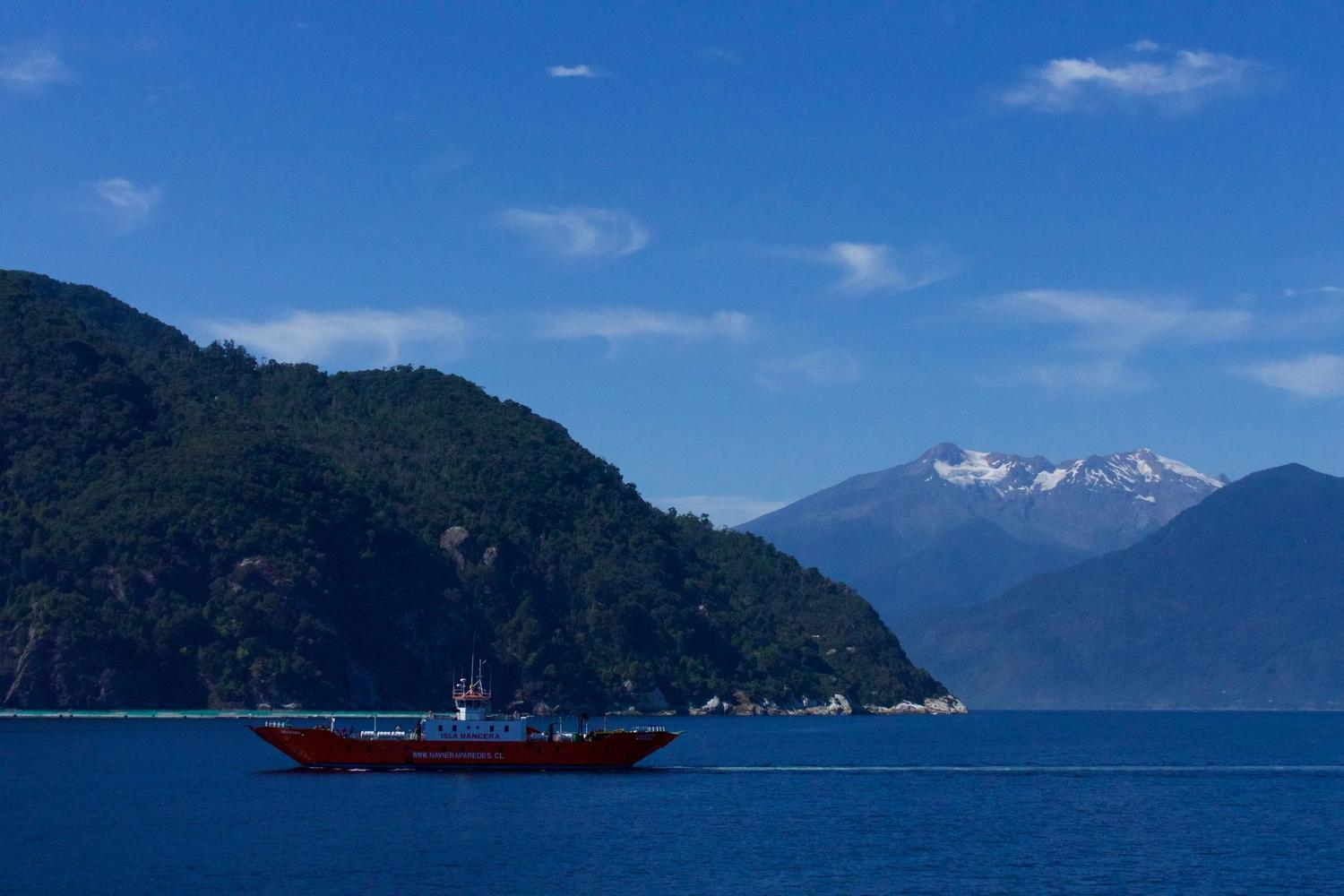 Setting off on the Carretera Austral by ferry