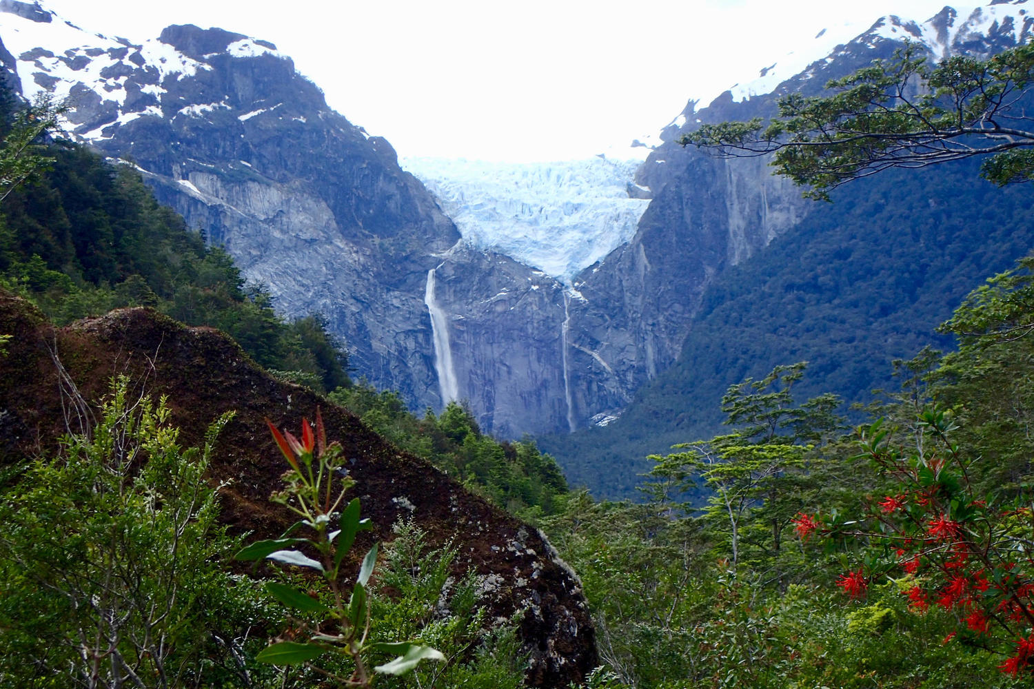 The hanging glacier of Queulat National Park