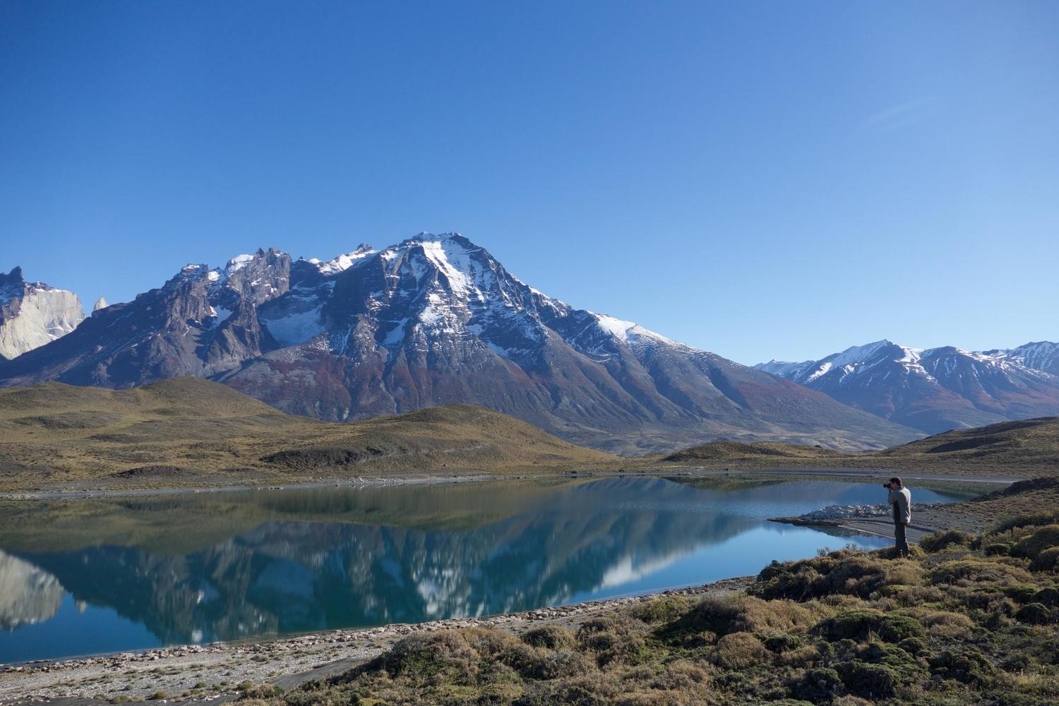 A still afternoon crossing Torres del Paine.