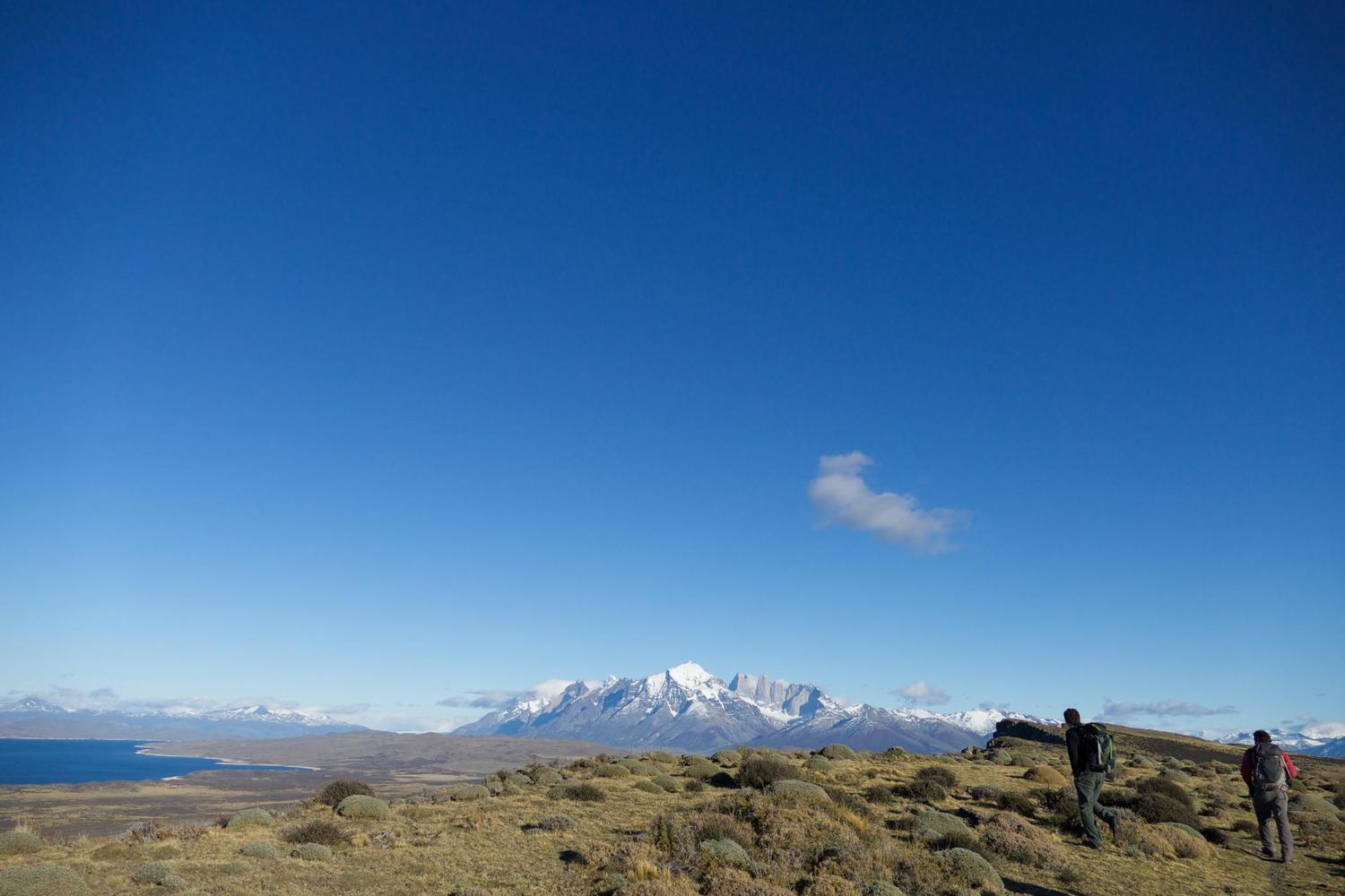 Walking in Las Cornisas on the outskirts of Torres del Paine