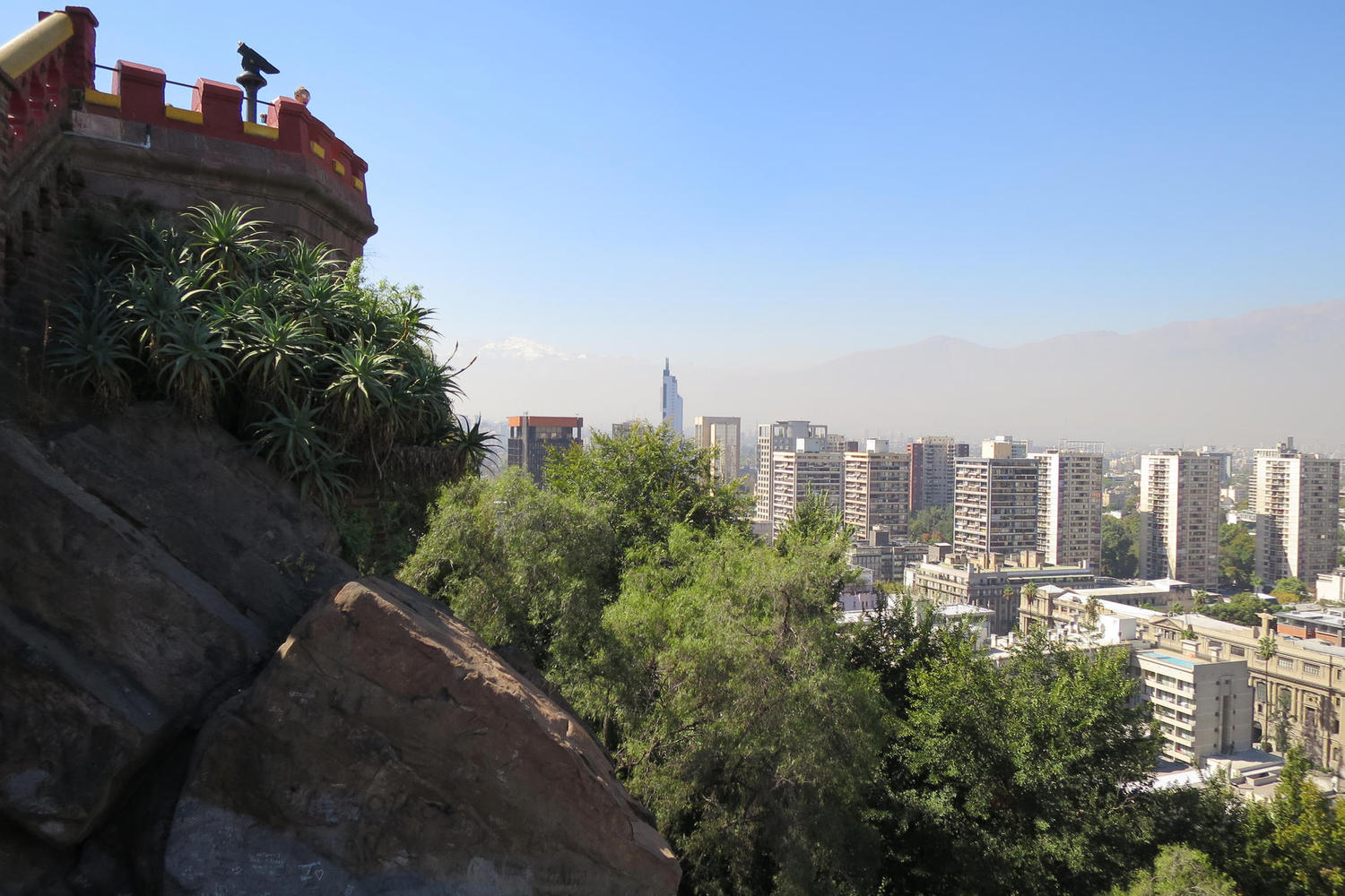 Looking out from Cerro Santa Lucia in Chile's capital, Santiago