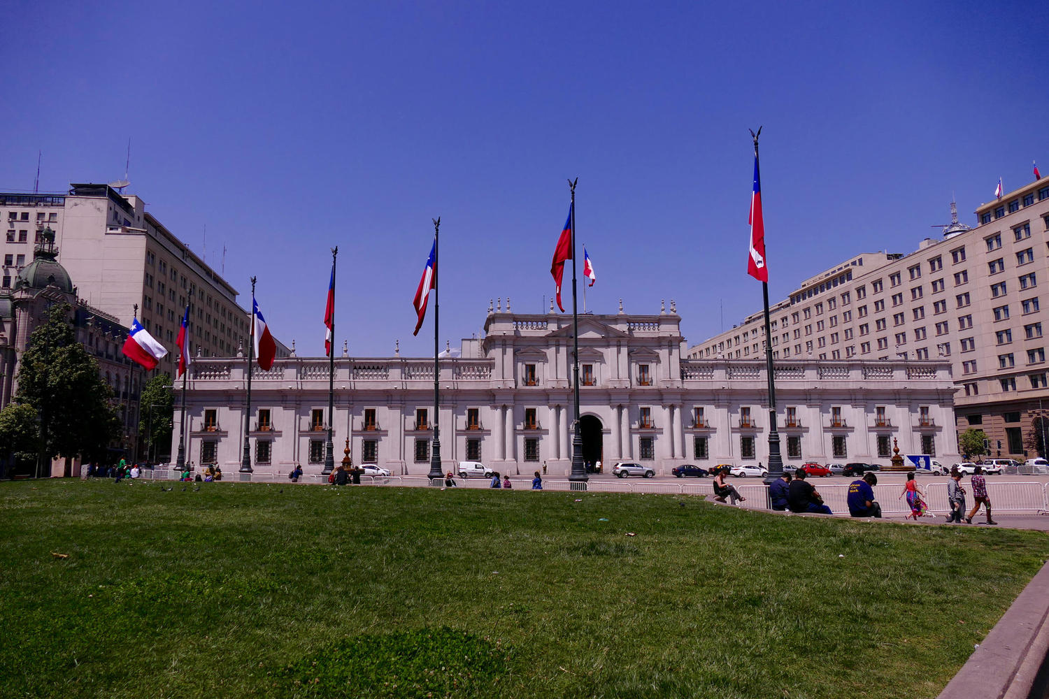 La Moneda palace in Santiago de Chile