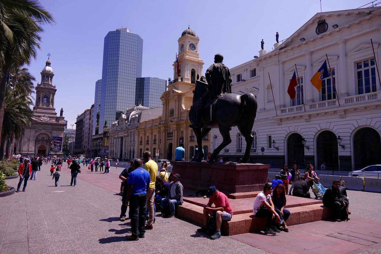 Santiago's lively Plaza de Armas