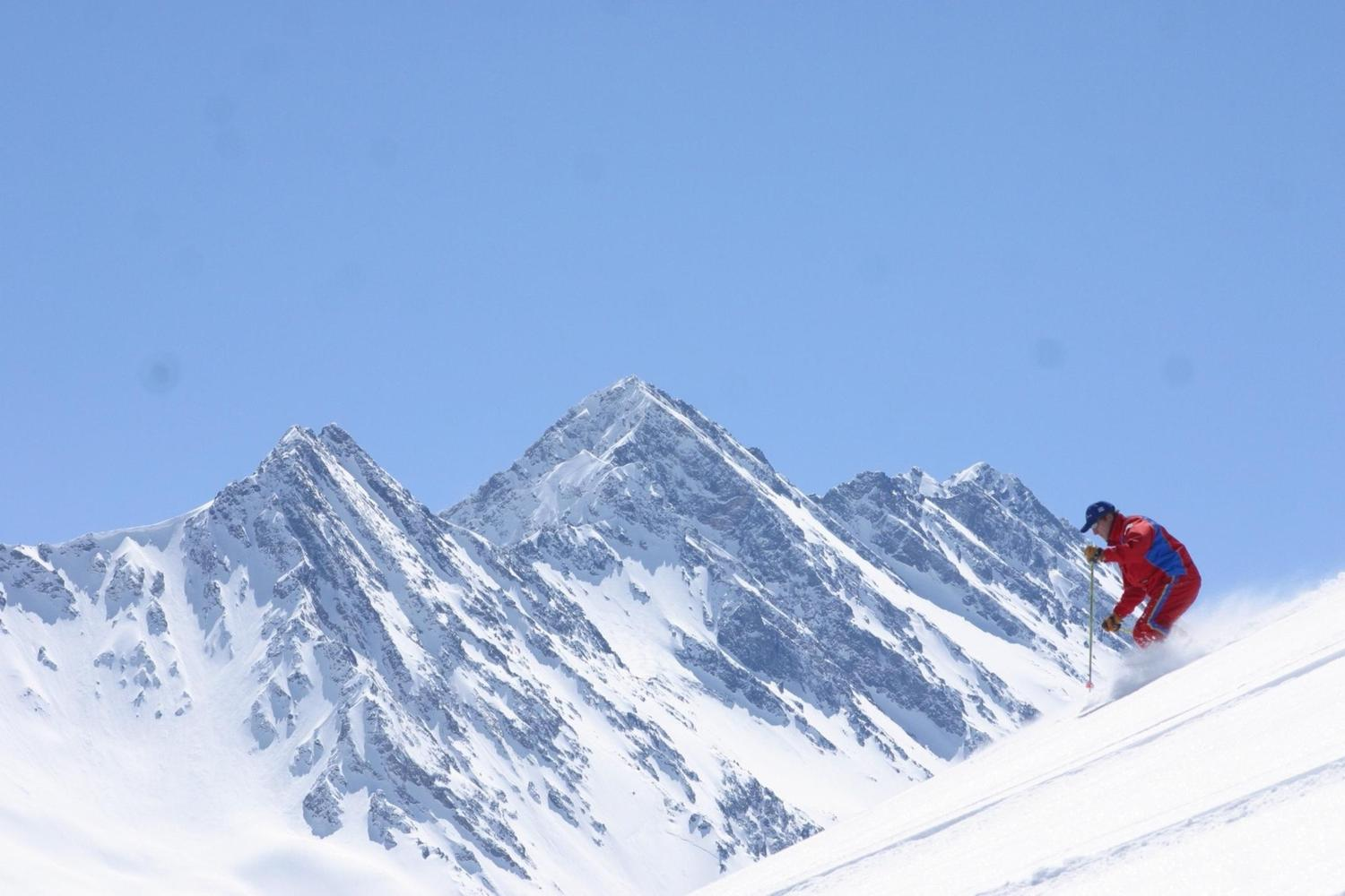 Empty slopes to be explored at Portillo, Chile