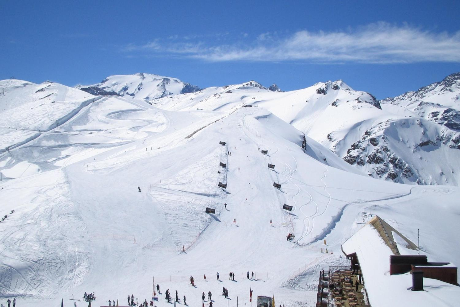 Valle Nevado's slopes spread out over the central Andean mountains of Chile