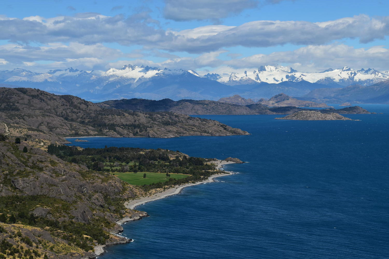 The deep blue waters of Patagonia's Lago General Carrera