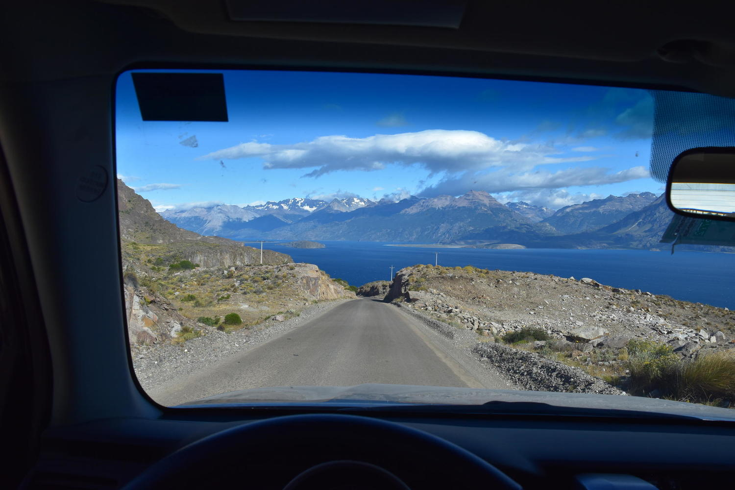 View from the drivers seat on the Carretera Austral