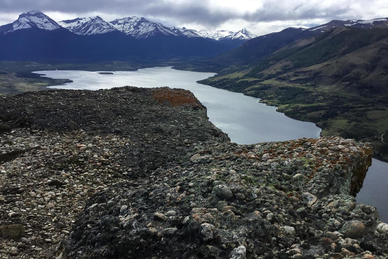 View of Laguna Sofia from Cerro Benitez near Puerto Natales