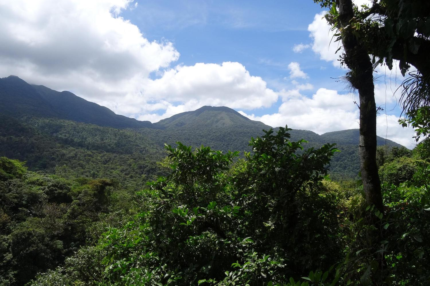 Looking out over one of the peaks of the Tenorio volcano
