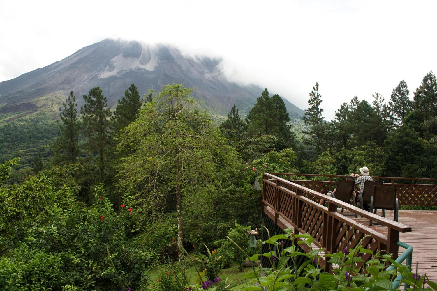 Looking out from the Observatory Lodge, Arenal