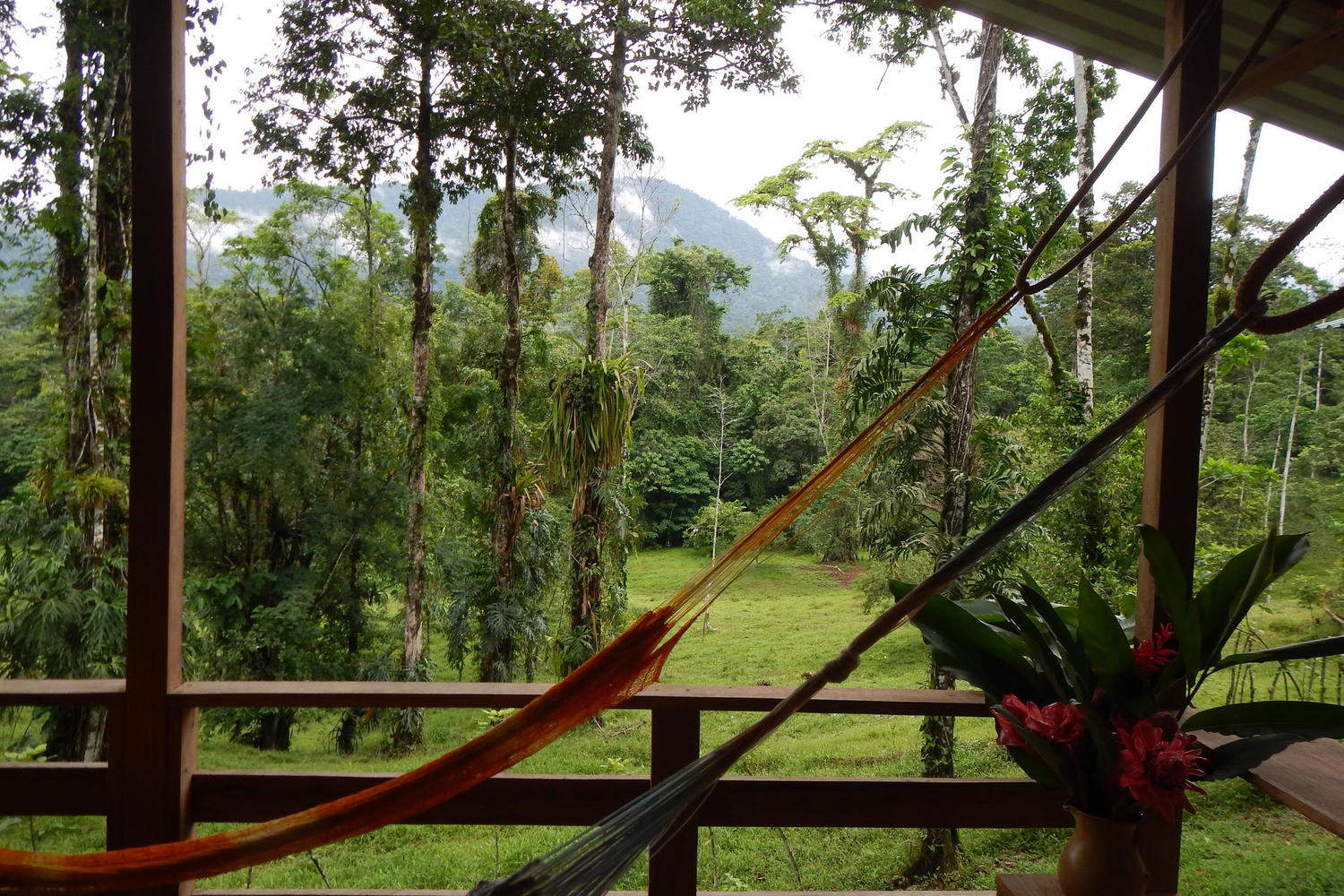 Walk or ride through jungle and pastureland - or just swing in a hammock