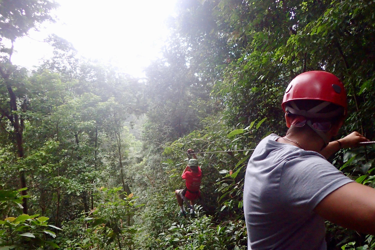 Zip-lining on the Osa Peninsula