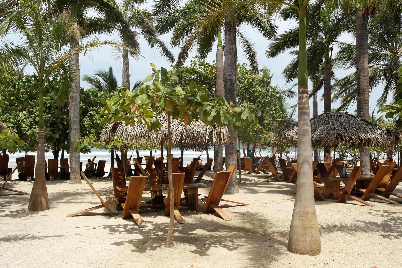Lola's beach shack on Avellanas beach, Nicoya Peninsula