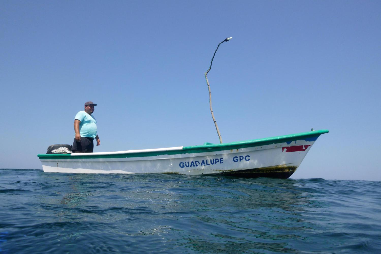 Carlos fishing off Ostional beach, Nicoya Peninsula