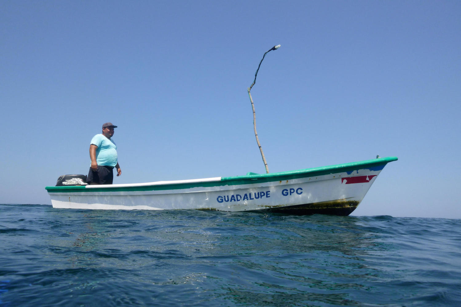 Carlos fishing off Ostional beach, Nicoya Peninsula