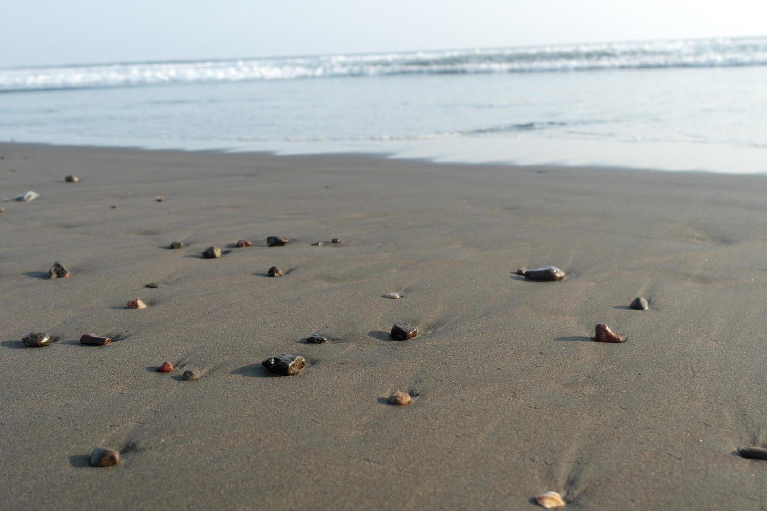 Pebbles on Ostional beach, Nicoya Peninsula