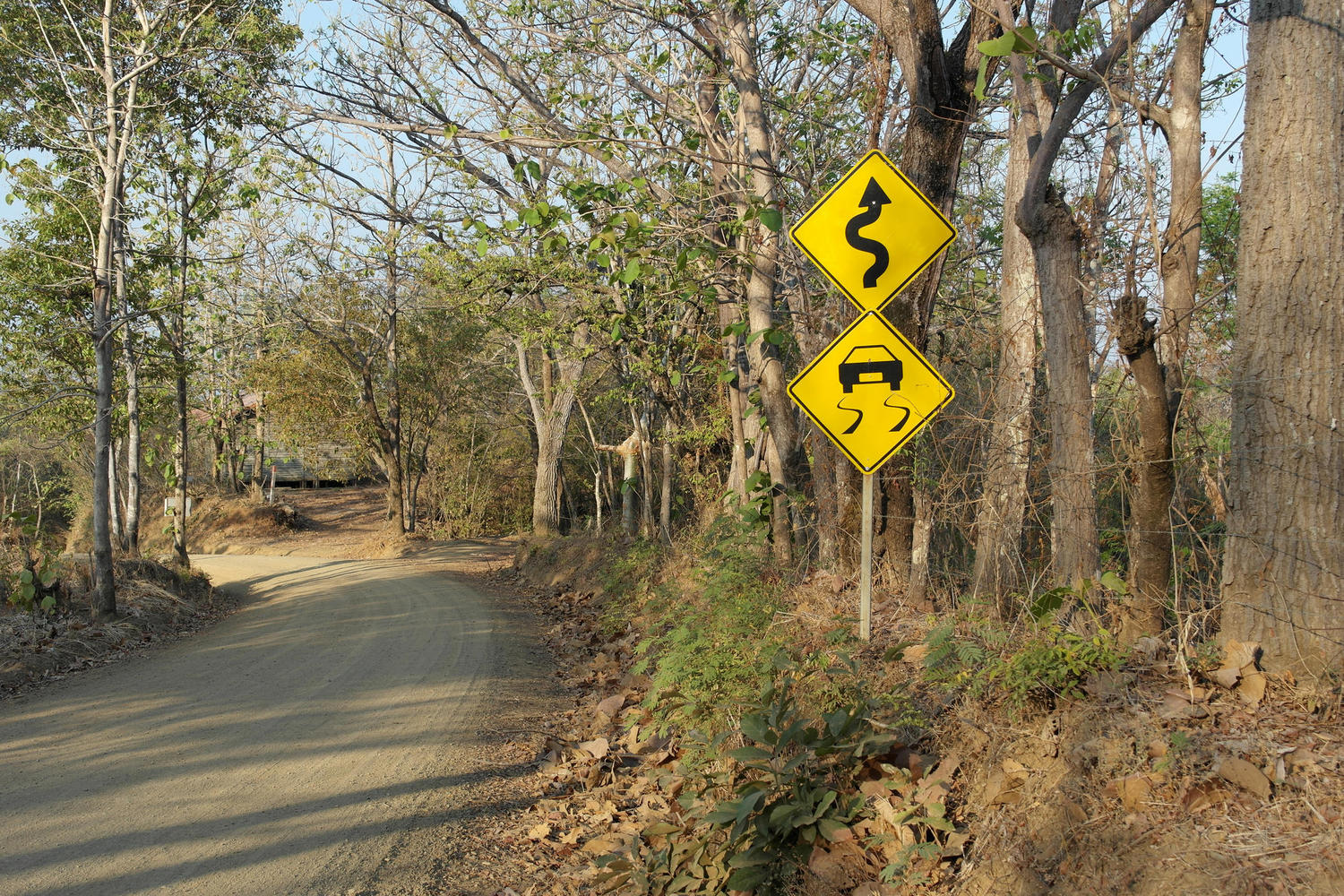 Road signs above Ostional, Nicoya Peninsula