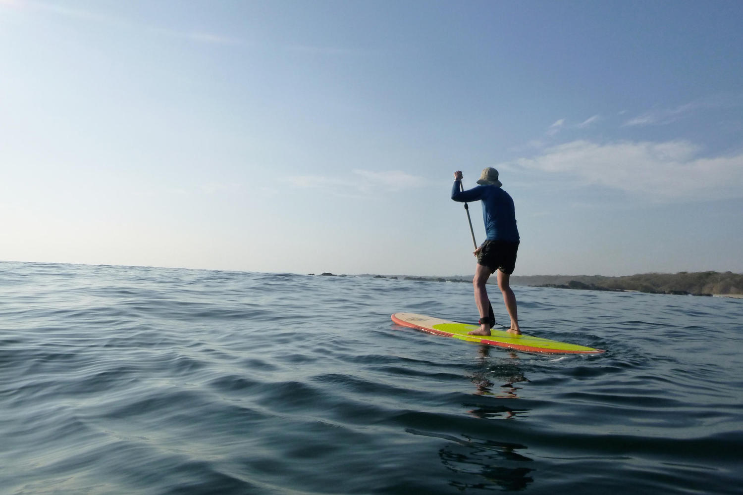 Stand up paddleboarding off San Juanillo beach, Nicoya Peninsula