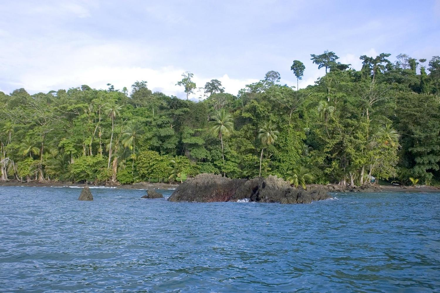 The lovely coastline of the Corcovado National Park, Costa Rica
