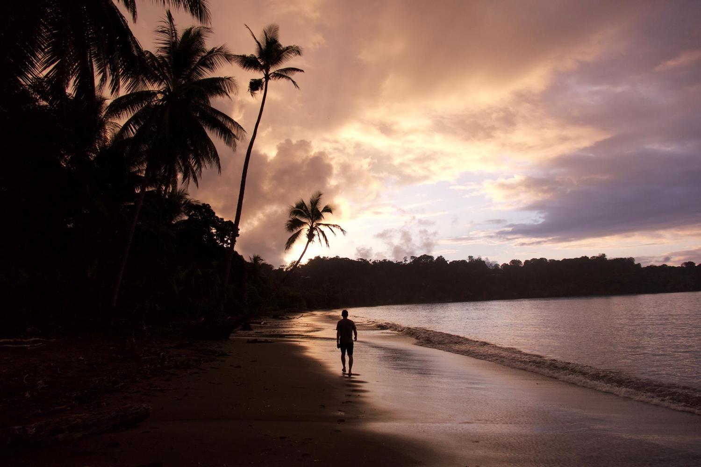 Walking on the beach of Drake Bay