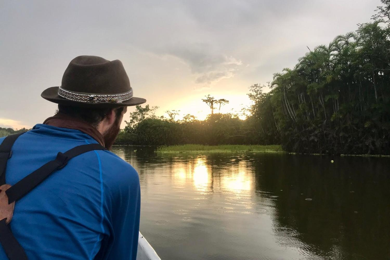 Soaking in the views in the Ecuadorian Amazon Rainforest