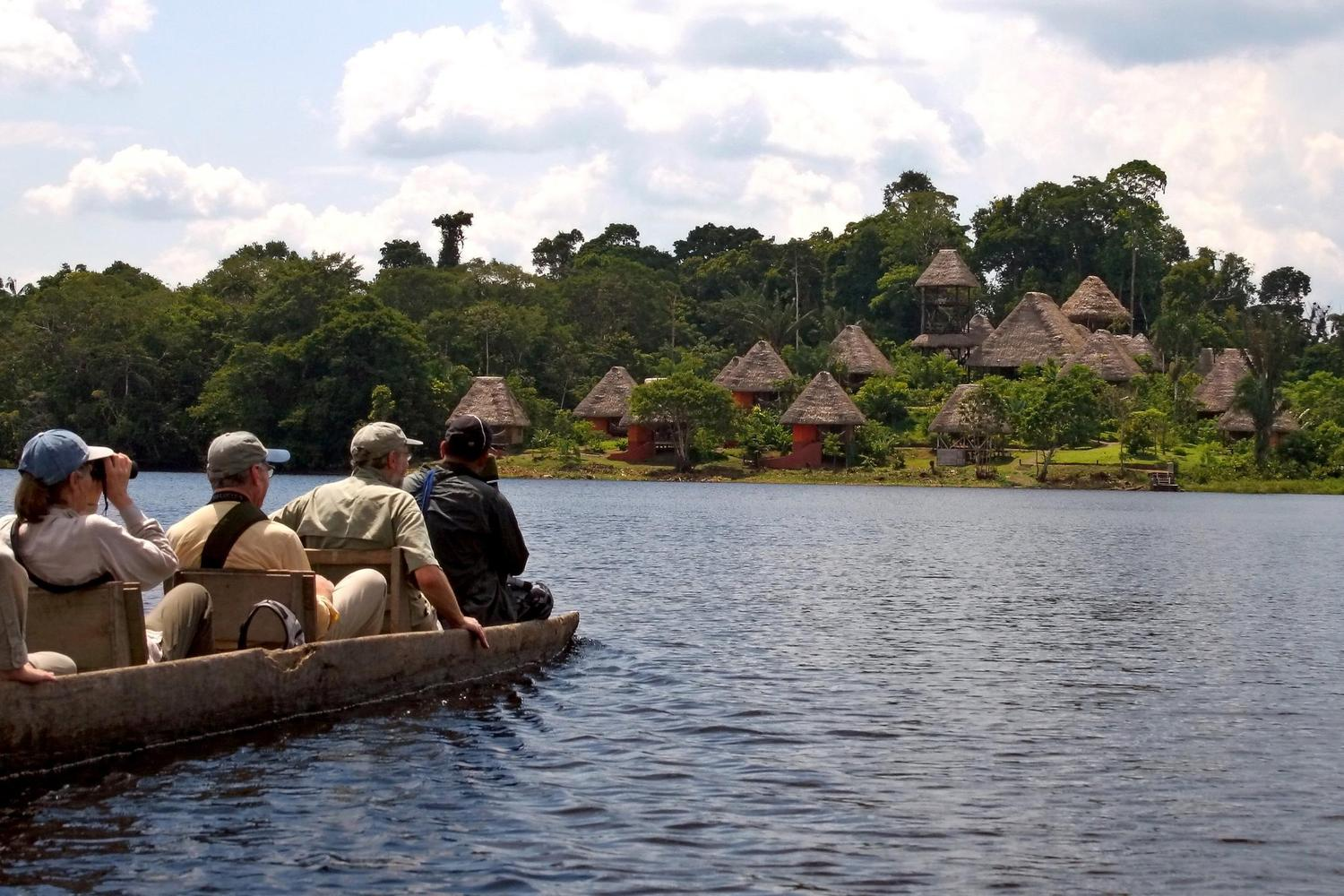 Approaching the Napo Wildlife Centre Lodge in the Ecuadorian Amazon