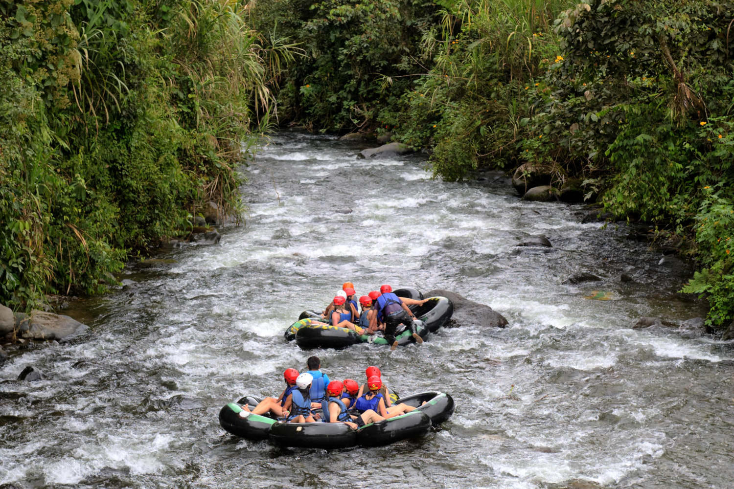 River tubing in the Andean cloudforest of Mindo