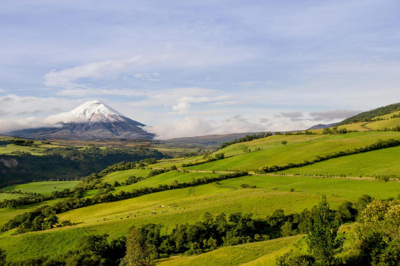 Lovely Cotopaxi volcano landscape