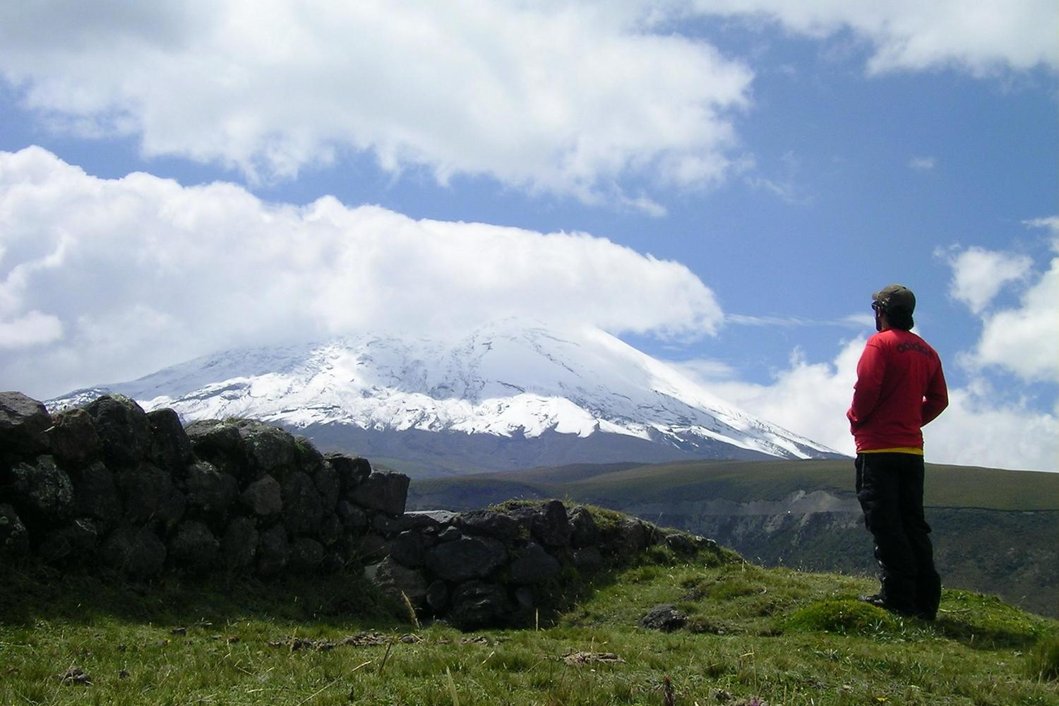 Looking out over the Cotopaxi volcano