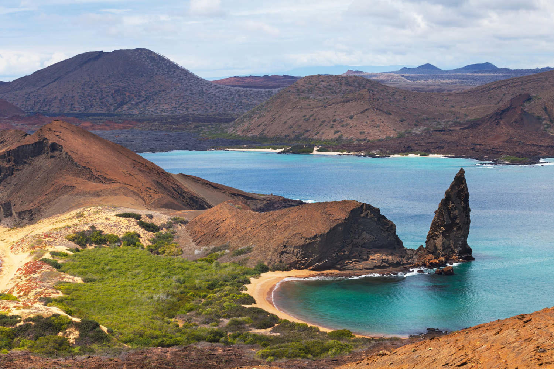 Bartolome island in the Galapagos archipelago