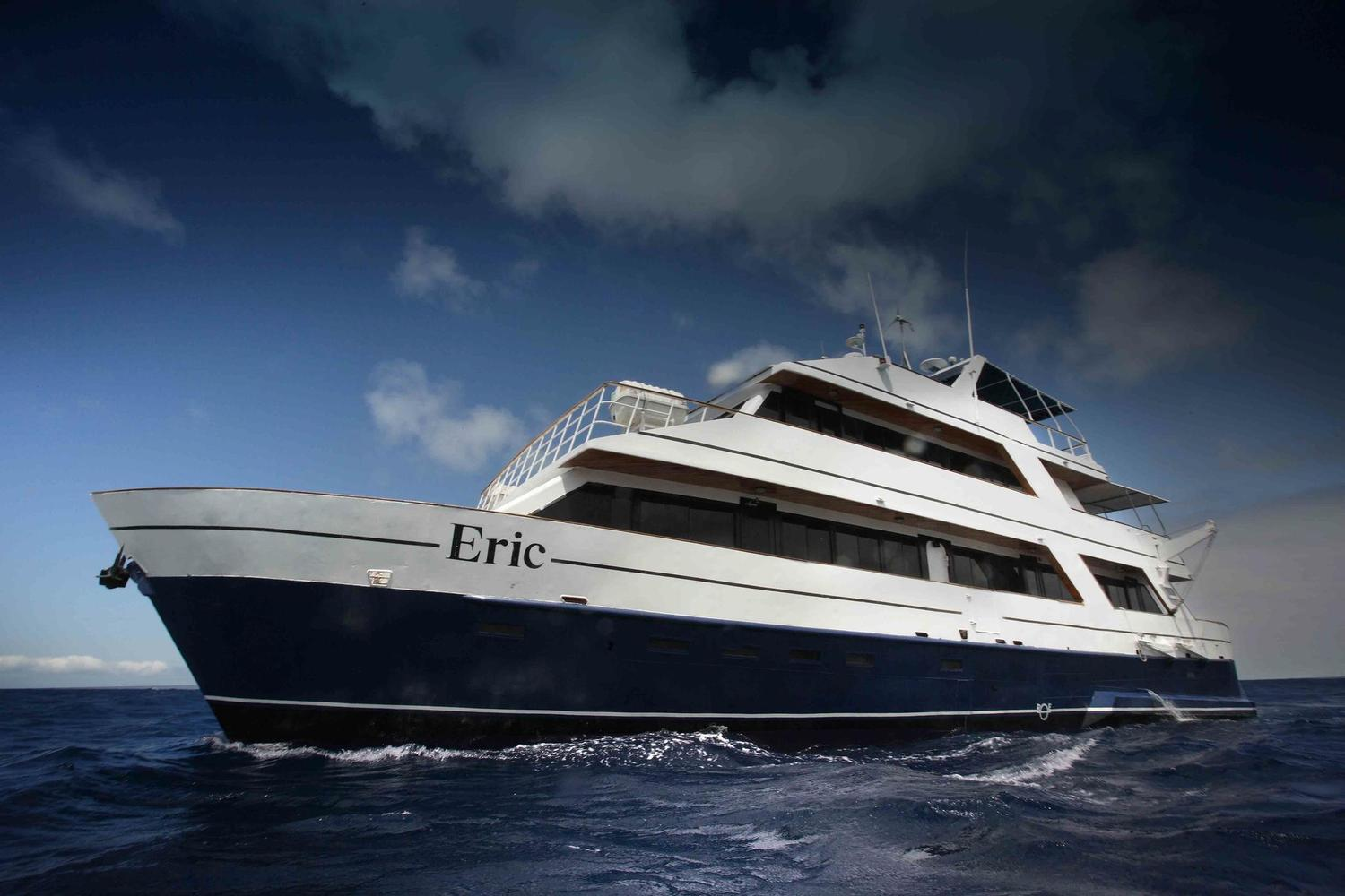 The first class Galapagos Islands cruise, Eric.