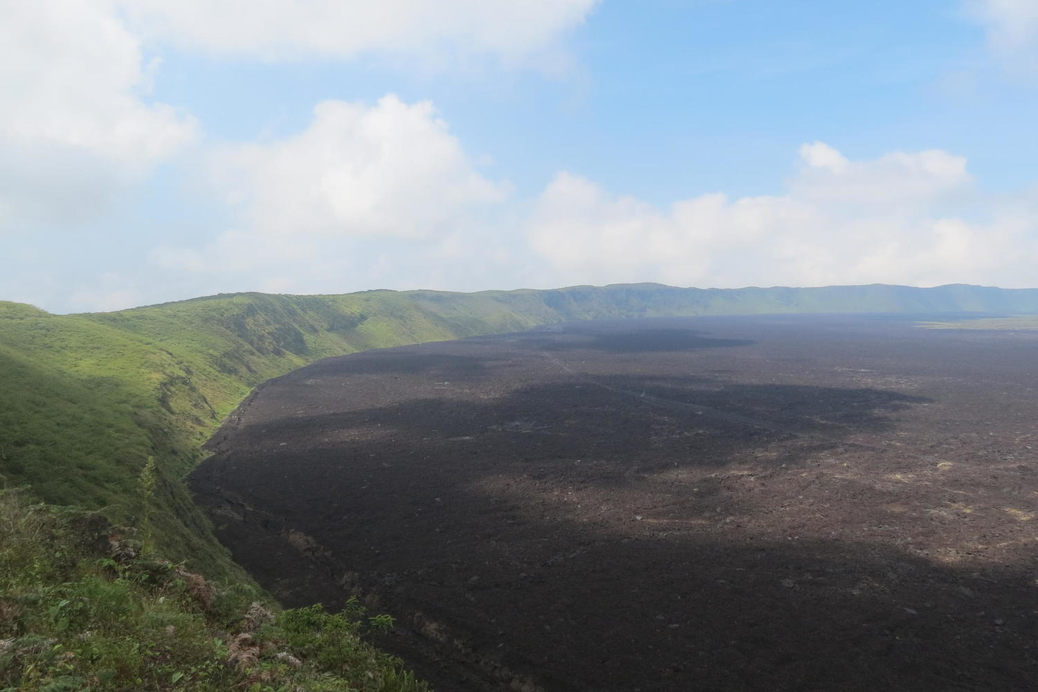 The enormous caldera of Sierra Negra in the Galapagos