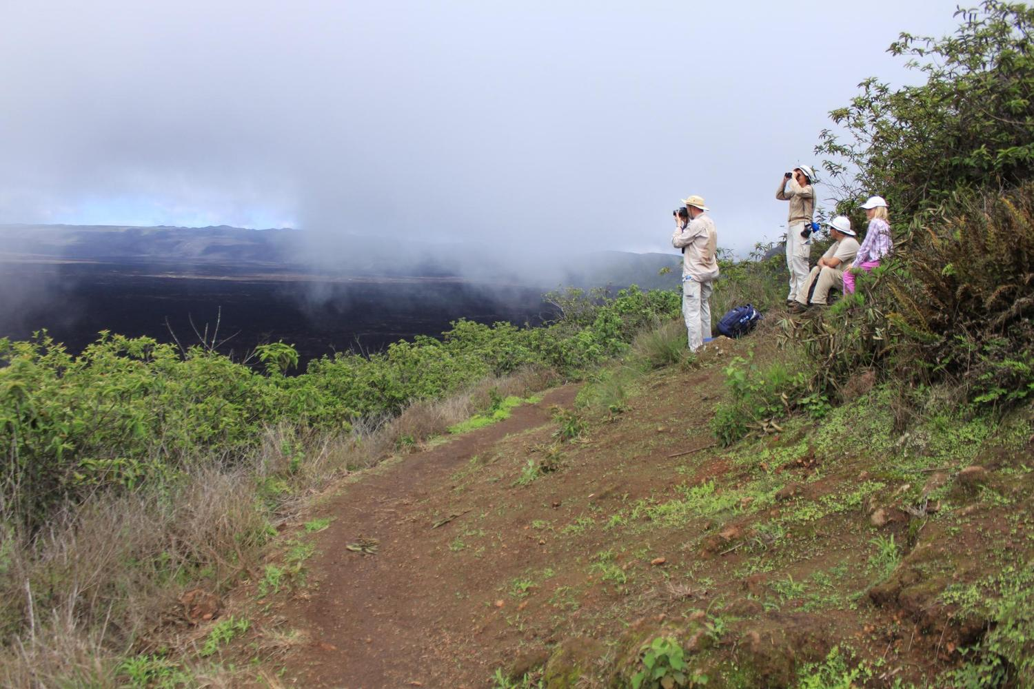 Looking out over the world's second largest crater, Galapagos