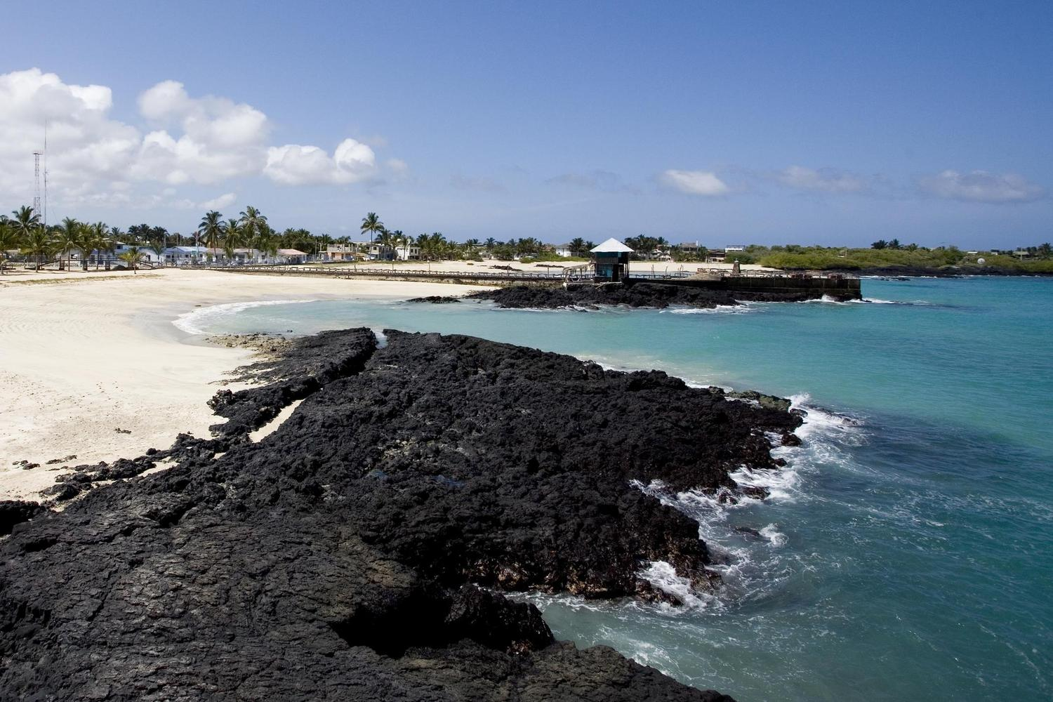 The lovely beach of Puerto Vilamil in the Galapagos
