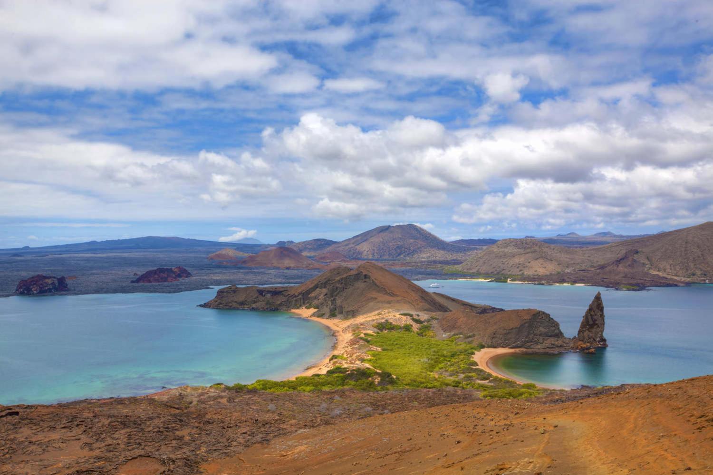 View of the pinnacle on Bartolome Galapagos