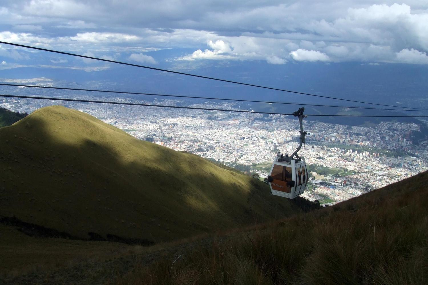 The cable car up to the heights above Quito