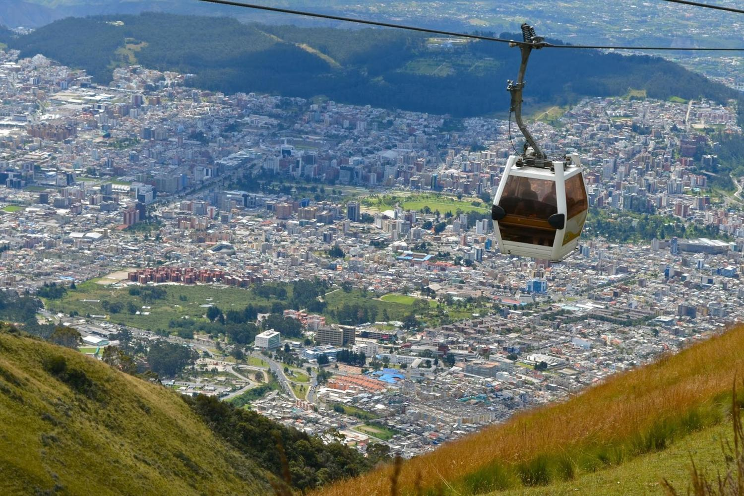 Quito's teleferico takes you high up above the city