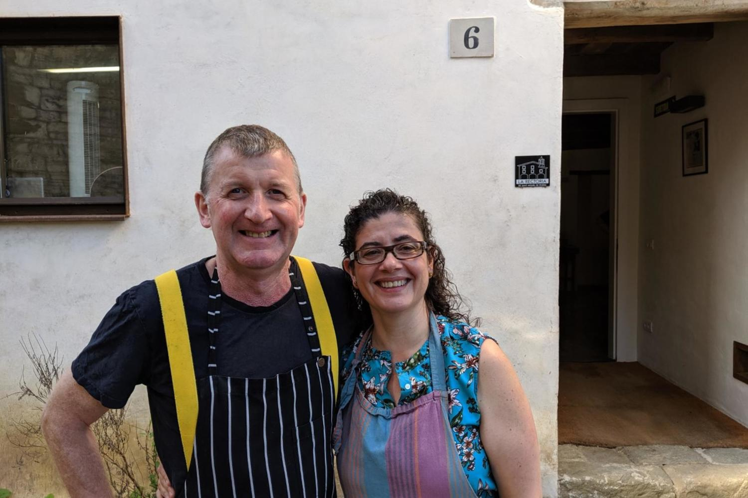 Roy and Goretti are your welcoming hosts in La Garrotxa
