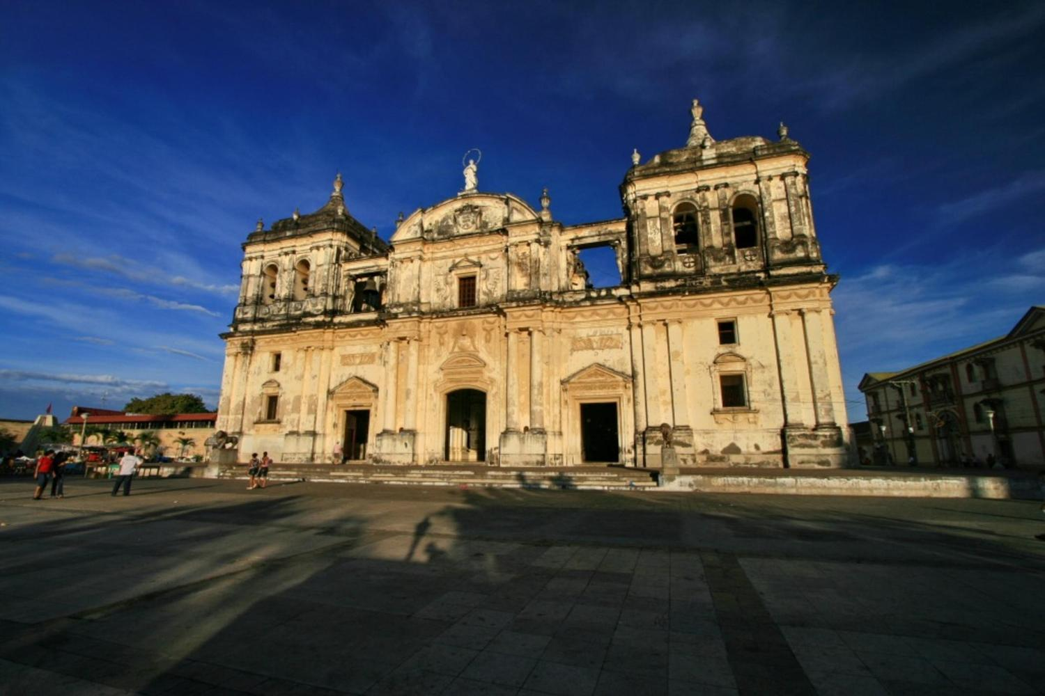 The striking cathedral of Granada