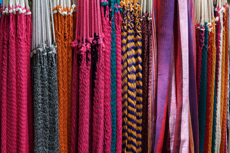 Hammocks for sale in Masaya market near Granada