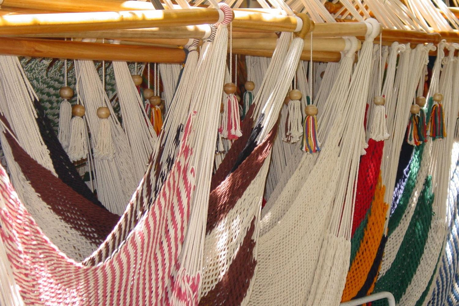 Hammocks for sale in the market
