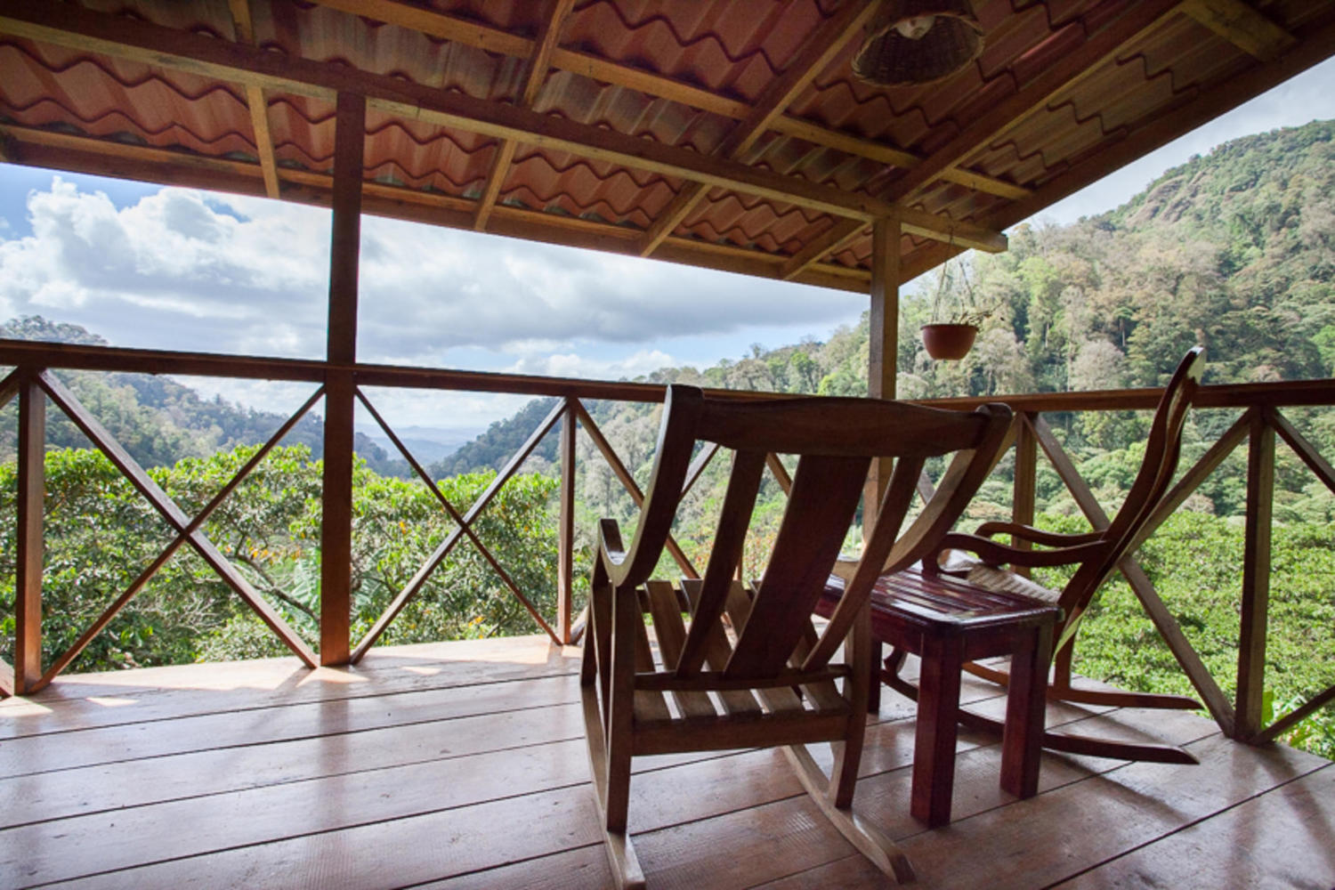 View from the deck at La Bastilla Lodge, Jinotega