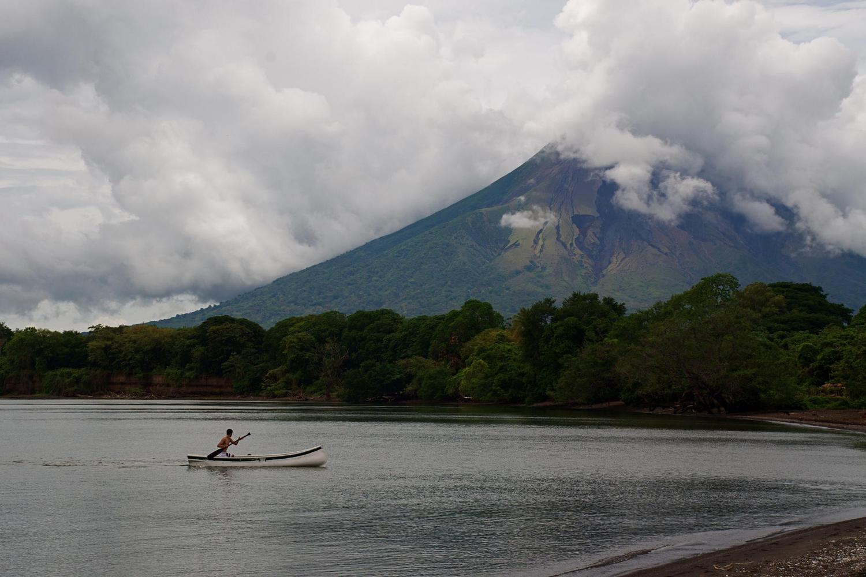 Paddling on Lake Nicaragua