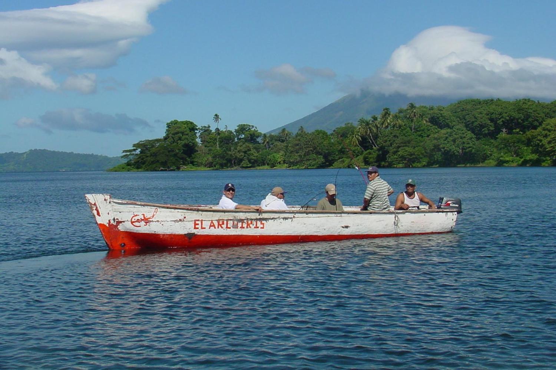 Fishing boat off Ometepe Island in Lake Nicaragua