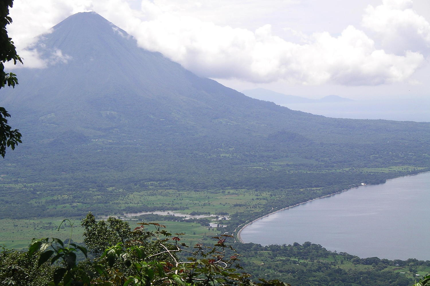 Looking out over Concepcion during the climb up Maderas on Ometepe Island
