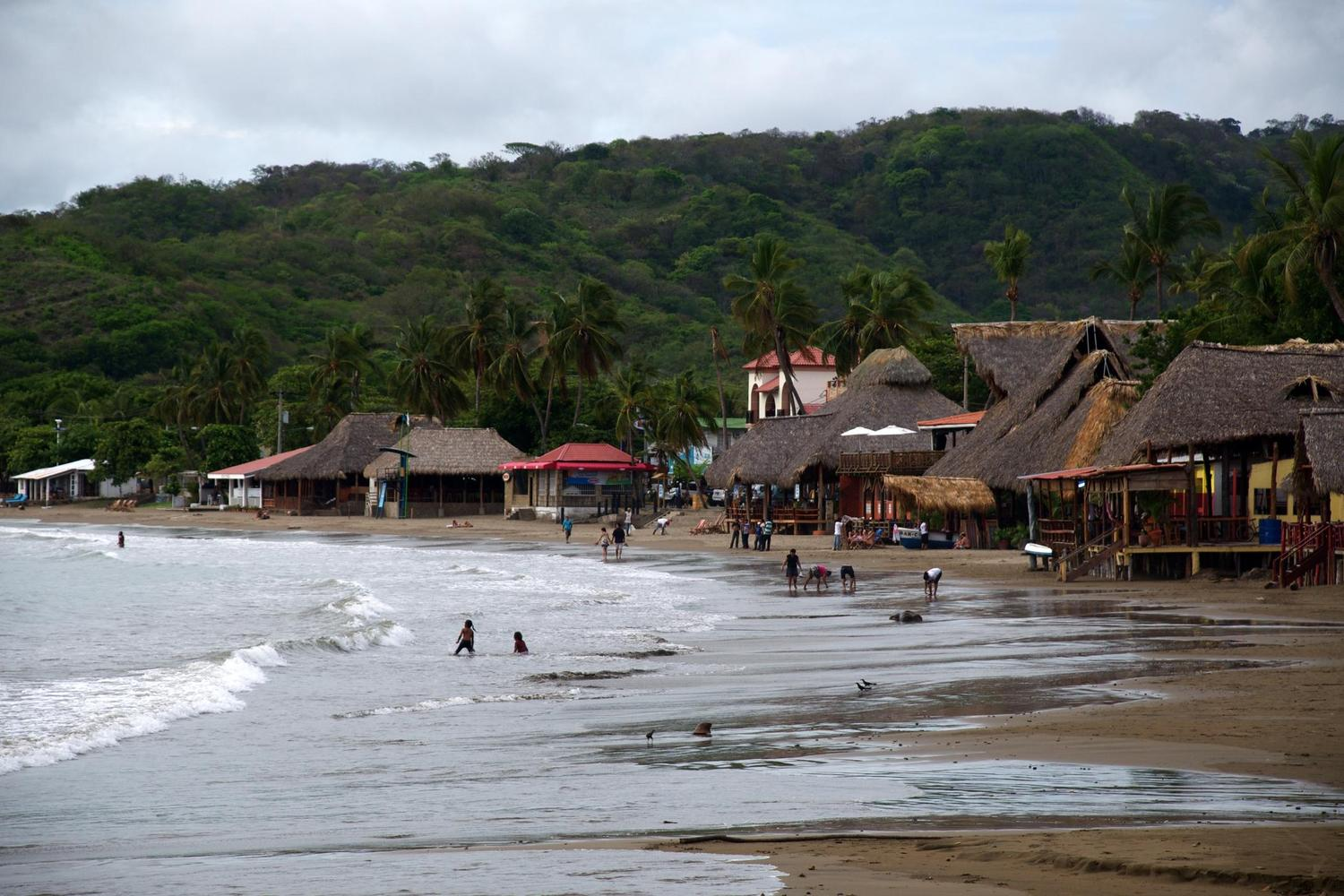 The bustling beach of San Juan del Sur