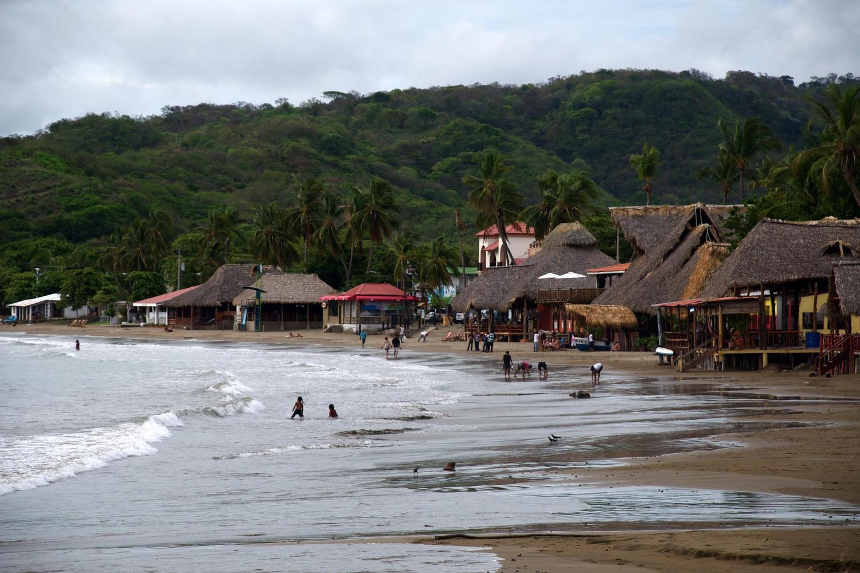 The bustling beach of San Juan del Sur